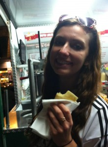 The first crepe in Paris!