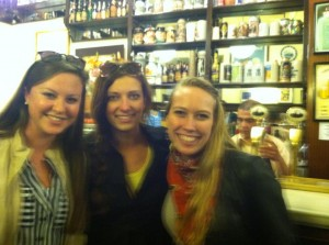 Haley, Morgan, and I in a bar in central Madrid.