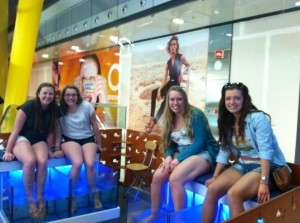 Getting a fish pedicure in Barcelona.