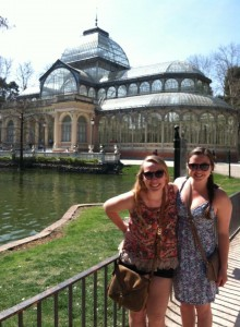 Haley and I in front of the Crystal Palace.