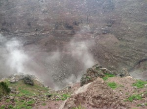 The crater of the Vesuvio
